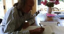 Sir John writing